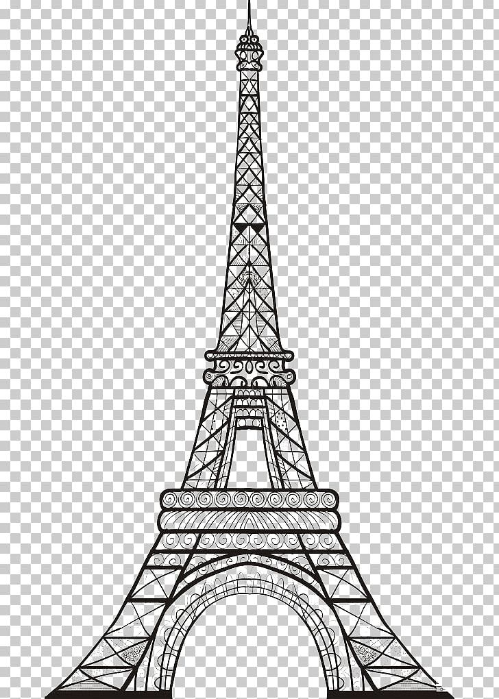 Eiffel tower sketch. Drawing png clipart black