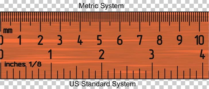 Ruler Inch Metric System Measurement Millimeter PNG, Clipart