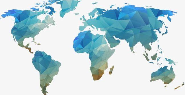 Blue World Map Shape Element Png Clipart Blue Blue Clipart