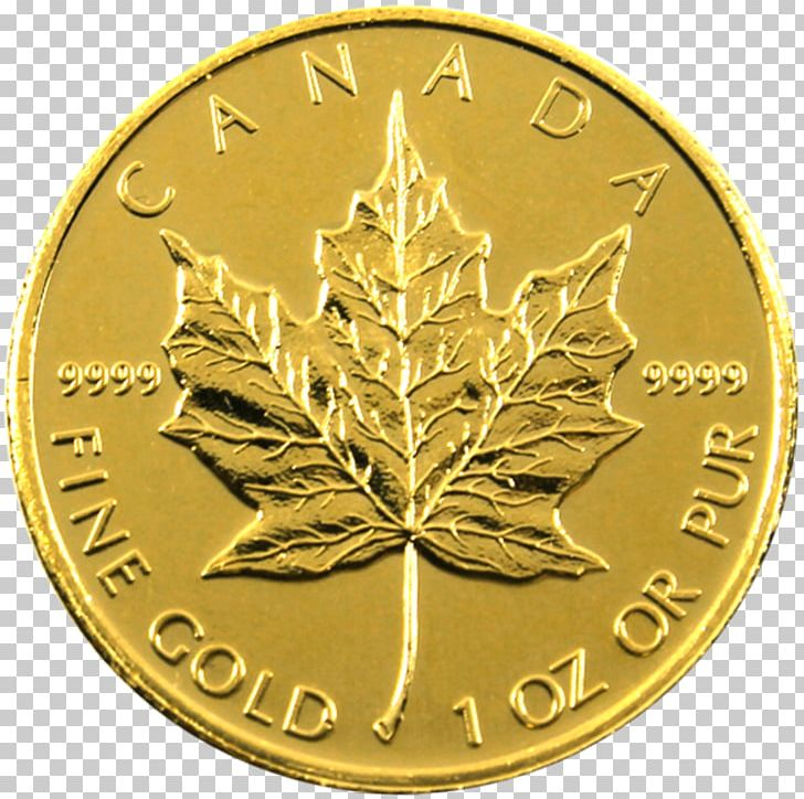 Silver Coin Canadian Gold Maple Leaf Canada PNG, Clipart