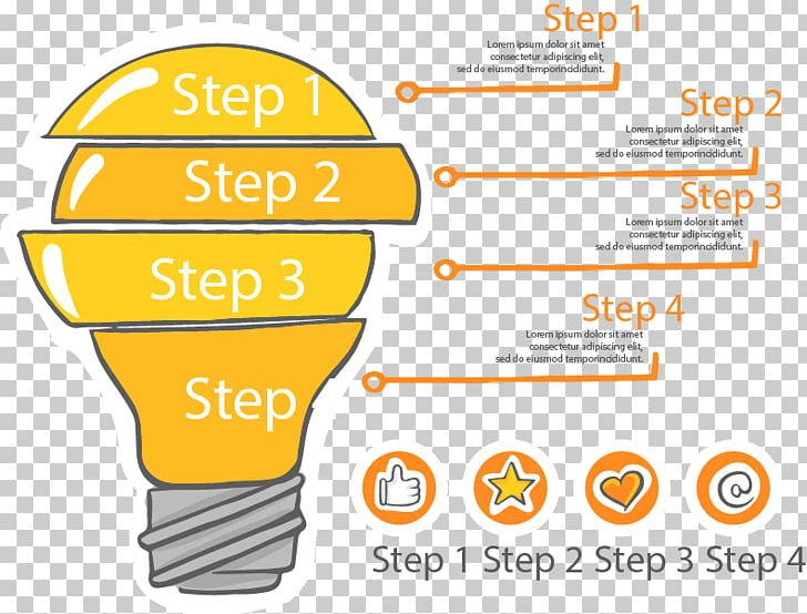Infographic Incandescent Light Bulb Template Icon PNG