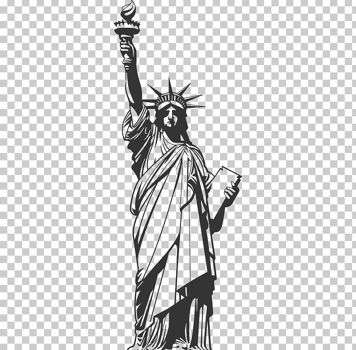 Statue Of Liberty Drawing Ellis Island PNG, Clipart, Anime, Art, Artwork, Black, Black And White Free PNG Download