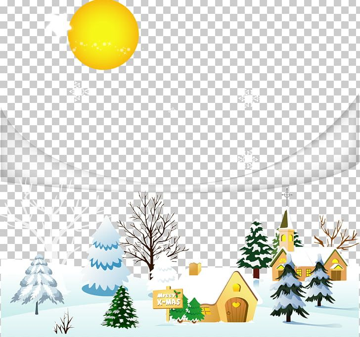 Snow Winter Christmas Village Png Clipart Branch