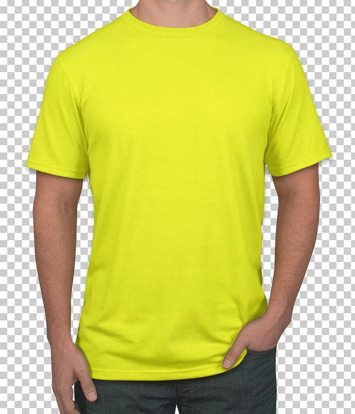 T Shirt Sleeve Yellow Top Png Clipart Active Shirt Blue Clothing Color Gildan Activewear Free Png