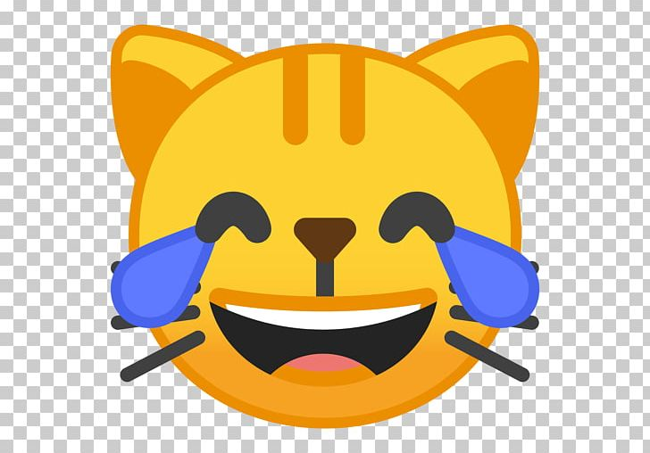 Cat Kitten Face With Tears Of Joy Emoji Emoticon PNG, Clipart, Android Oreo, Animals, Cat, Computer Icons, Emoji Free PNG Download