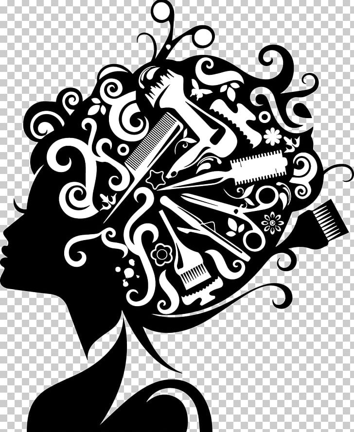 Comb Hairdresser Beauty Parlour Hairstyle PNG, Clipart, Art, Barber, Barbershop, Black And White, Comb Free PNG Download