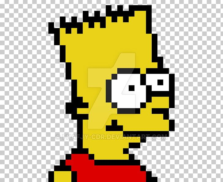 Bart Simpson Maggie Simpson Homer Simpson Pixel Art Drawing