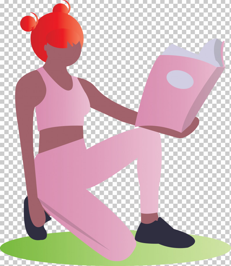 Reading Book Girl Fashion PNG, Clipart, Cartoon, Fashion, Girl, Pink, Reading Book Free PNG Download