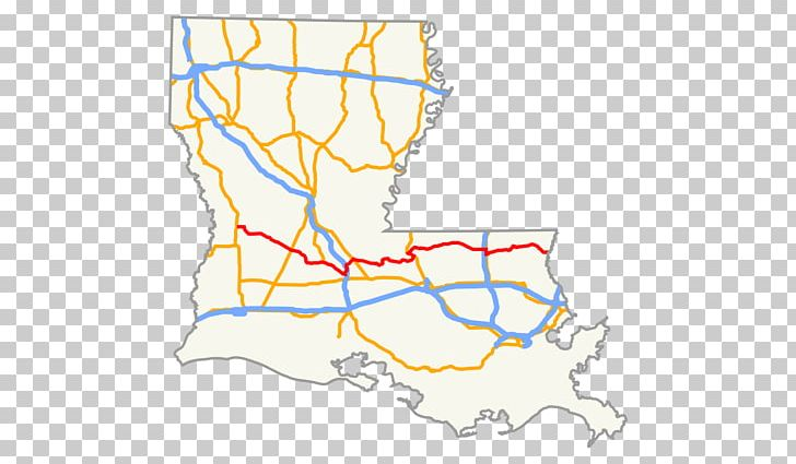 U.S. Route 90 In Louisiana Interstate 10 Louisiana Highway 1 ...