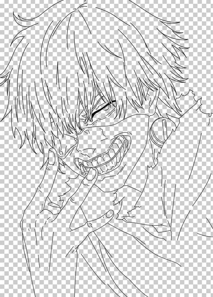 Line Art Ken Kaneki Tokyo Ghoul Drawing Coloring Book Png Clipart