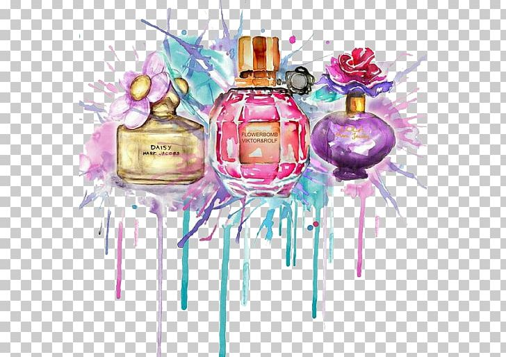 Perfume Drawing Watercolor Painting Fashion Illustration PNG, Clipart, Beauty, Body Spray, Christmas Ornament, Cosmetics, Drawing Free PNG Download