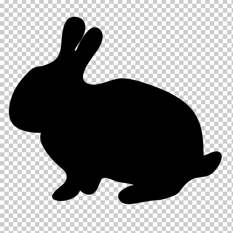 Rabbit Rabbits And Hares Hare Black-and-white Silhouette PNG, Clipart, Blackandwhite, Hare, Rabbit, Rabbits And Hares, Silhouette Free PNG Download