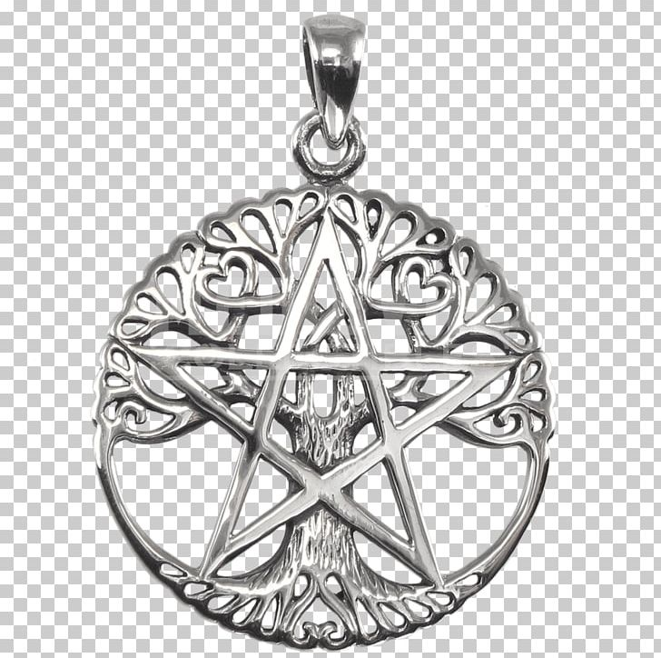 Pentacle Locket Pentagram Symbol Wicca PNG, Clipart, Black And White, Body Jewelry, Celtic Tree Of Life, Charms Pendants, Earth Free PNG Download