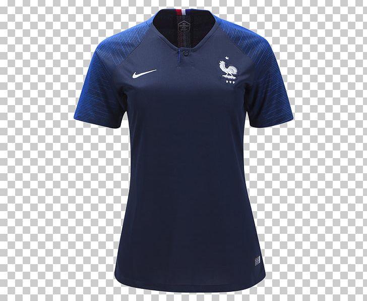 new style f5bdb ee2ec 2018 World Cup France National Football Team T-shirt Spain ...