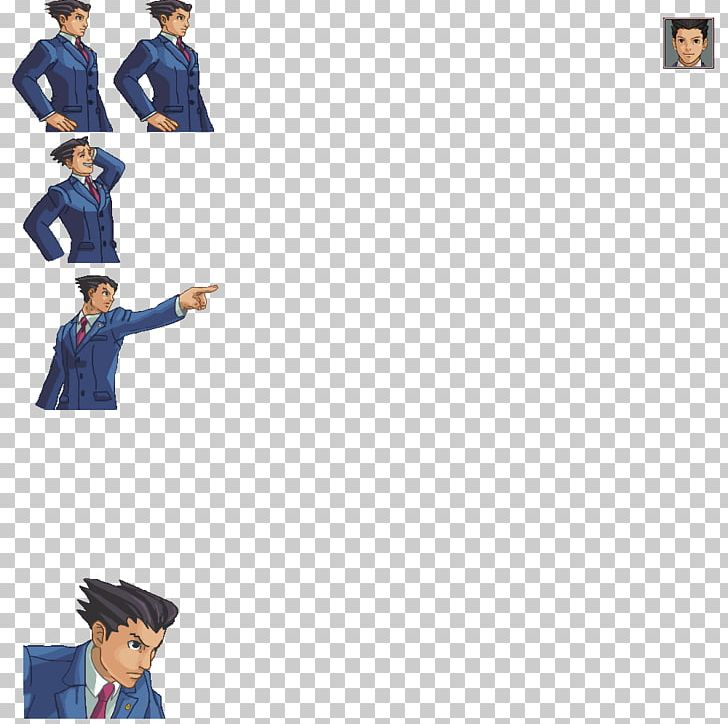 Apollo Justice: Ace Attorney Sprite Court Phoenix PNG