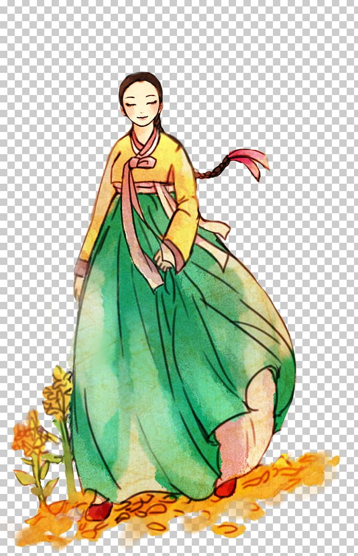 South Korea Hanbok Drawing Koreans Png Clipart Art Clothing