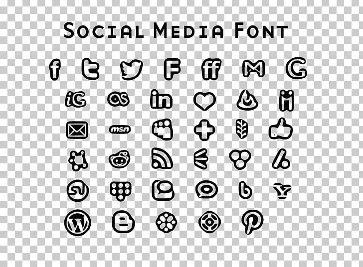 Social Media Computer Icons Font Awesome Font PNG, Clipart, Area, Black, Black And White, Circle, Computer Icons Free PNG Download