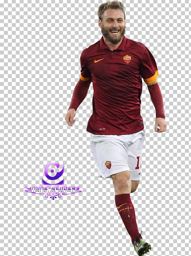 sports shoes b44c4 9b3f5 Daniele De Rossi A.S. Roma Football Player Jersey PNG ...