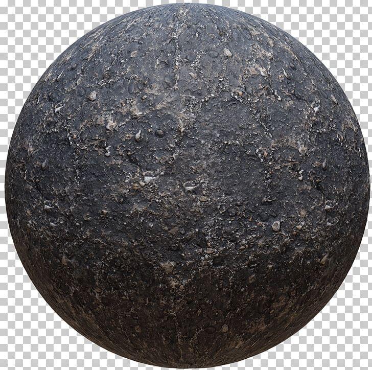 Rock crack. Sphere circle material png