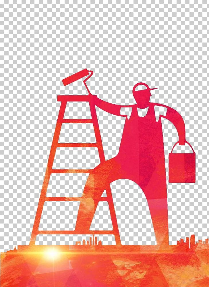 Silhouette Handyman House Painter And Decorator PNG, Clipart