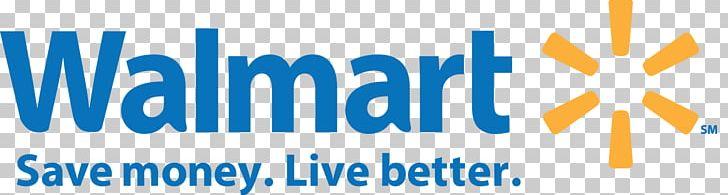 Walmart Supercenter Logo Retail PNG Clipart Area Blue