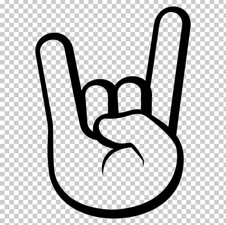 Sign Of The Horns Emoji Rock Music Symbol Png Clipart Area Black And White Chair Emoji