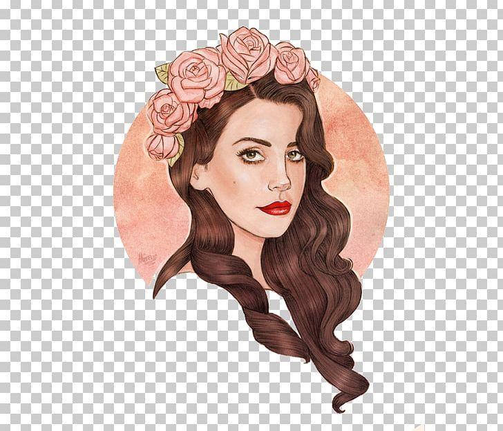 Lana Del Rey Artist Painting Drawing Png Clipart Art Artist Beauty Brown Hair Del Rey Free