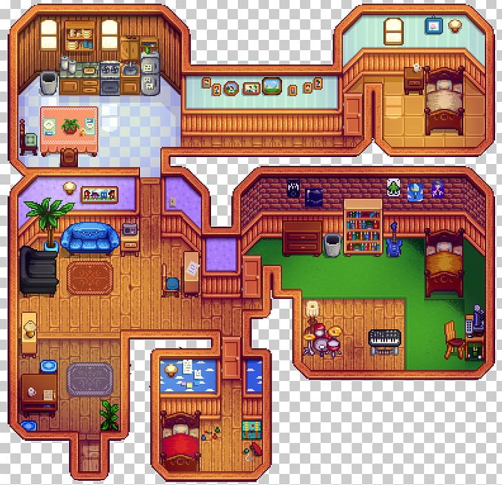 Stardew Valley Video Game House Interior Design Services Png