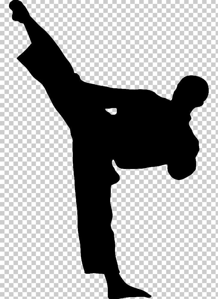 Karate Kick Martial Arts Taekwondo PNG, Clipart, Angle, Arm, Black And White, Black Belt, Clip Art Free PNG Download