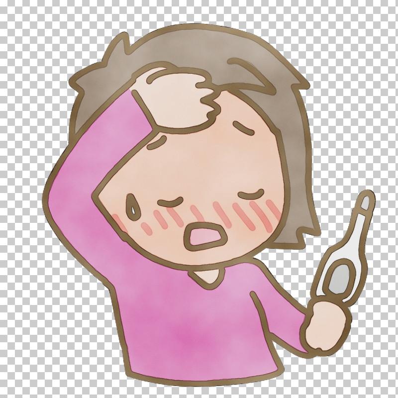 Cartoon Character Pink M Headgear Behavior PNG, Clipart, Behavior, Cartoon, Character, Headgear, Human Free PNG Download