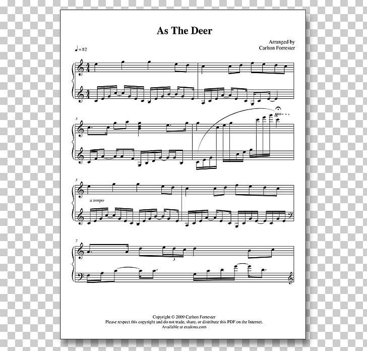 Sheet Music Carlton Forrester As The Deer Battle Hymn Of The