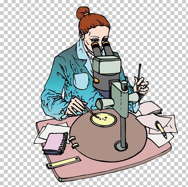cartoon scientist microscope png clipart animation apple watch art biologist euclidean vector free png download cartoon scientist microscope png