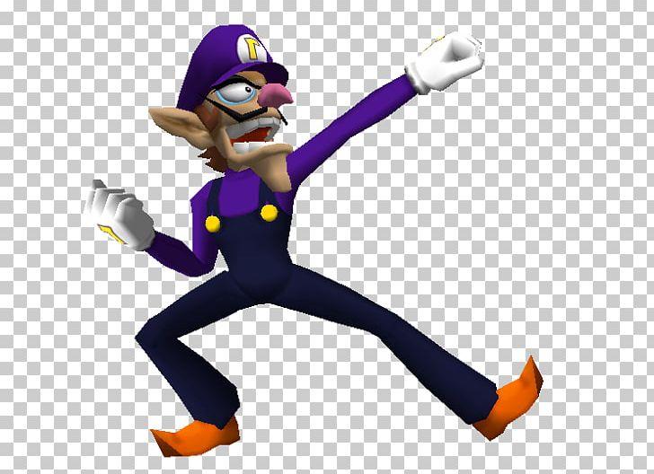 Waluigi character. Mario party super smash