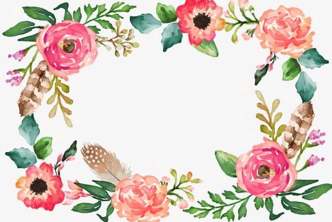 Flower Border Png Clipart Border Border Clipart Decorative Decorative Border Flower Clipart Free Png Download