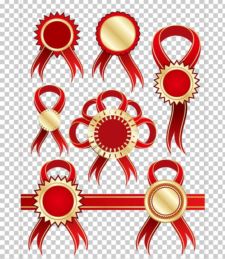 Red Ribbon Badge PNG, Clipart, Badge, Circle, Classic And Practical, Encapsulated Postscript, Flower Free PNG Download