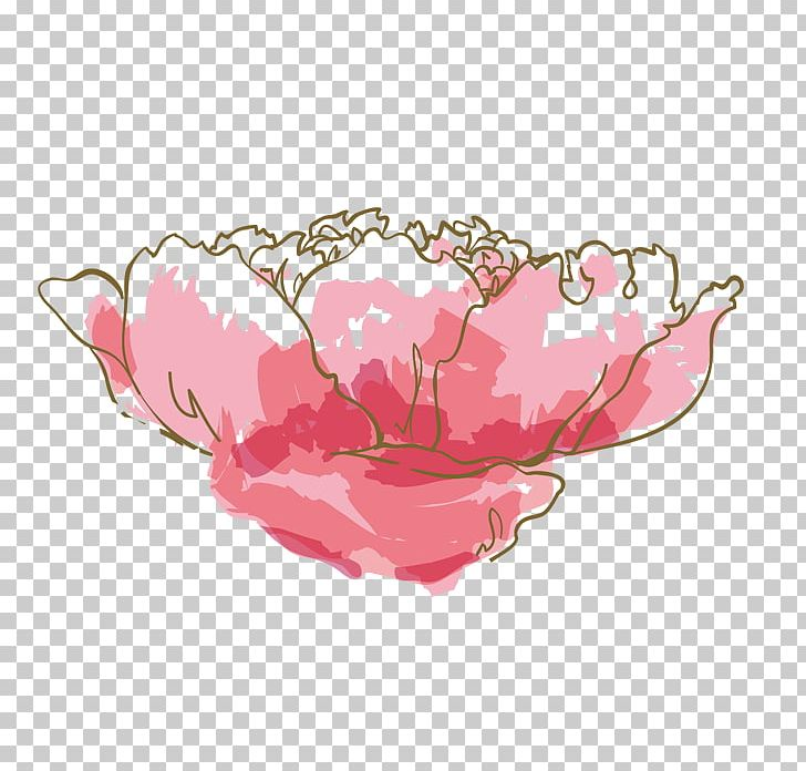 Watercolor: Flowers Watercolor Painting Pink PNG, Clipart, Cartoon, Color, Decorate, Diagram, Favicon Free PNG Download