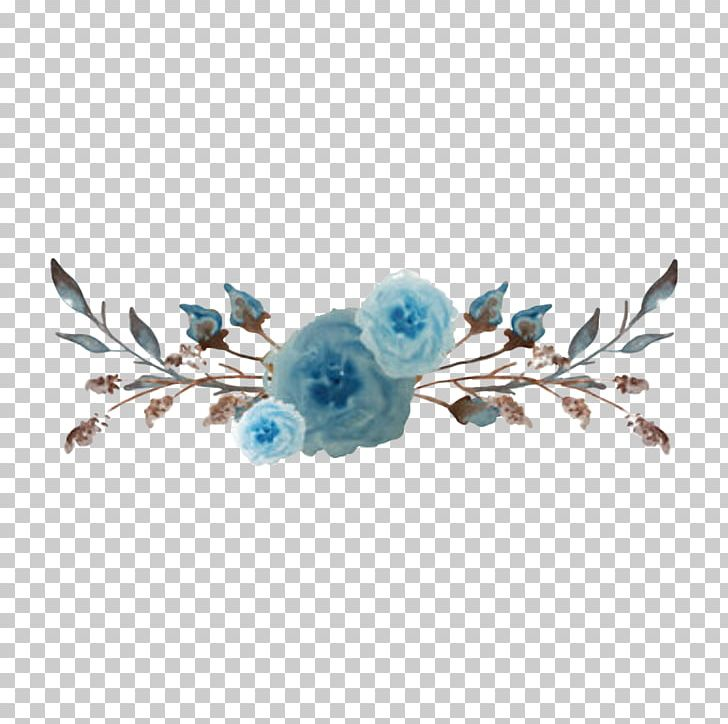 Watercolor Painting Watercolor: Flowers Blue PNG, Clipart, Blue, Body Jewelry, Branch, Cut Flowers, Desktop Wallpaper Free PNG Download