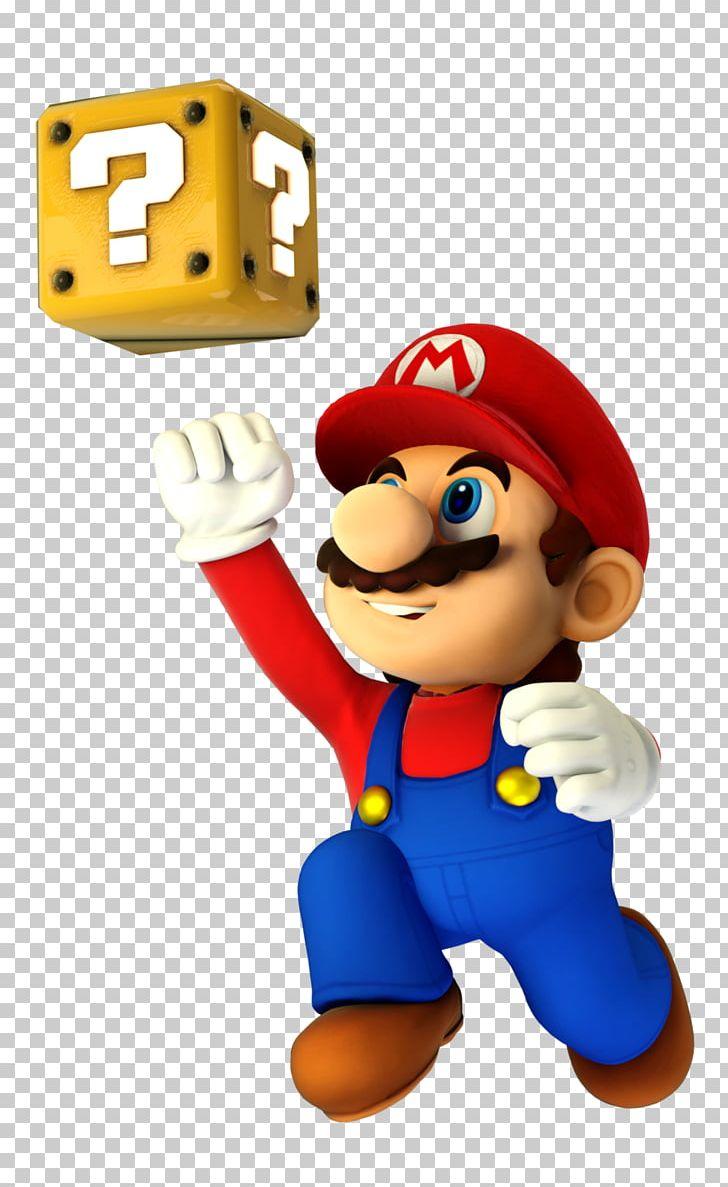 Mario jumping. Super bros digital art