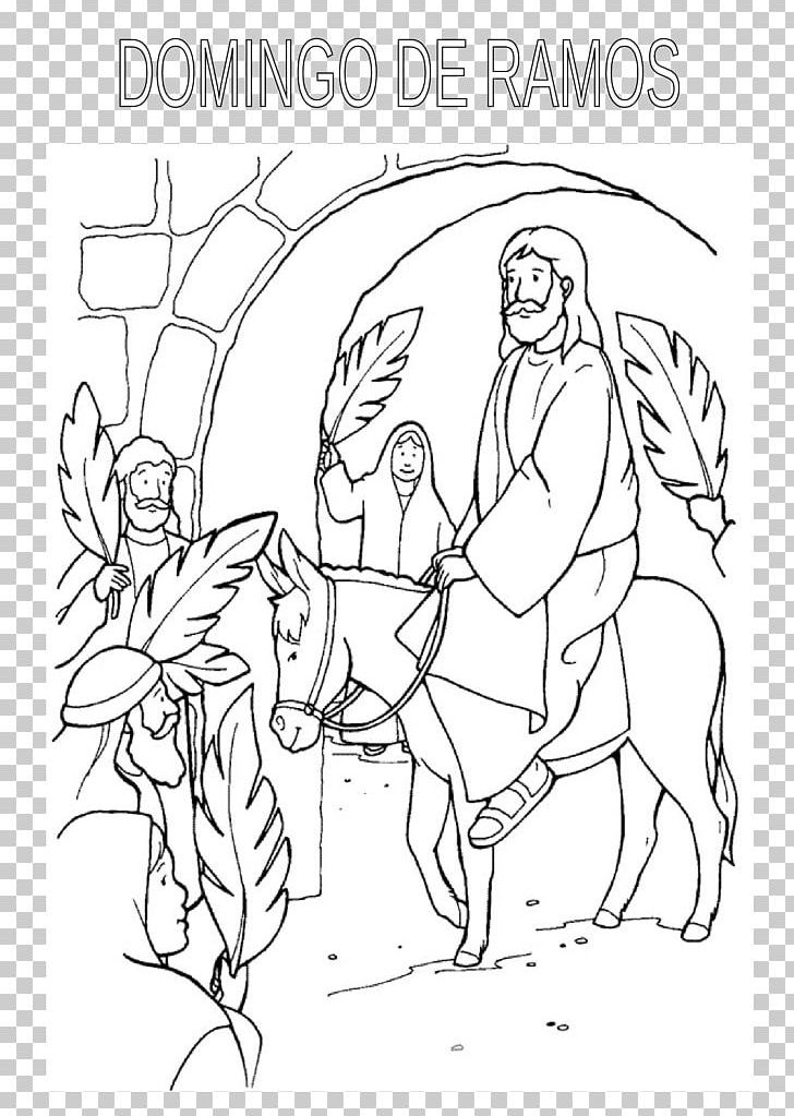 Palm Sunday Coloring Book Easter Child Bible PNG, Clipart, Angle ...
