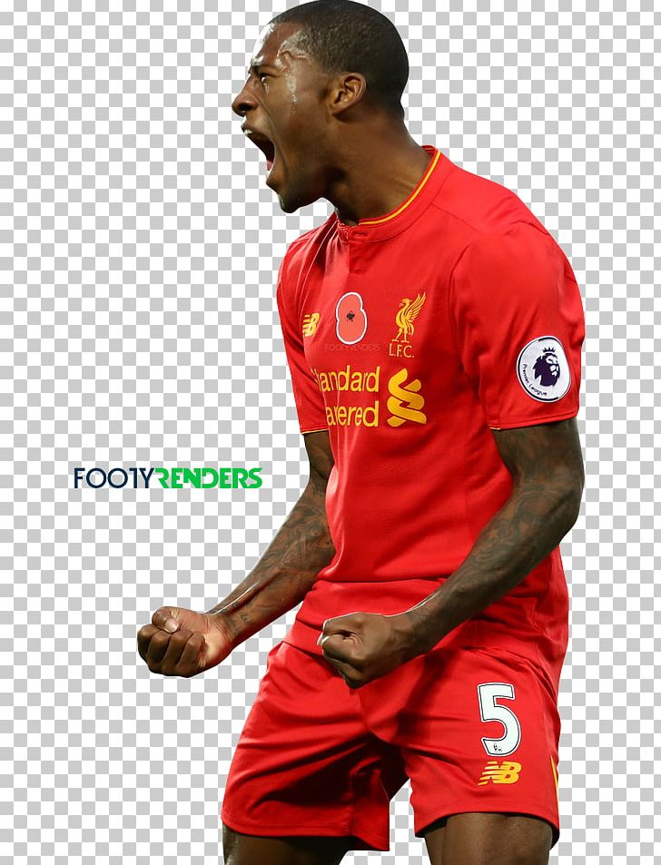 sports shoes 6a730 7c410 Georginio Wijnaldum Liverpool F.C. Jersey Football Player ...
