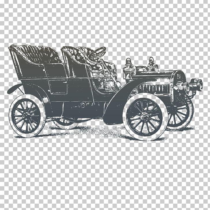Vintage Car PNG, Clipart, Antique Car, Automotive Design, Black And White, Brand, Car Free PNG Download