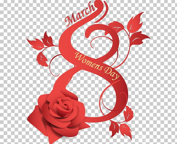 International Women's Day 8 March Woman Red PNG, Clipart,  Free PNG Download