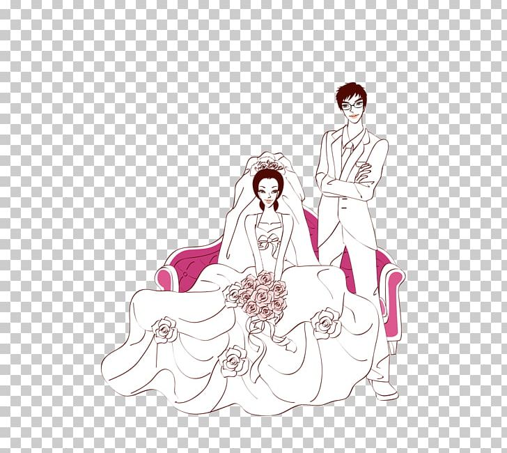 Wedding Marriage Bridegroom Illustration PNG, Clipart, Bride, Clothing, Comic, Computer Wallpaper, Divorce Free PNG Download