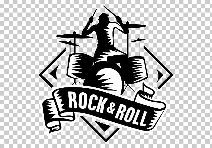 T Shirt Rock Music Logo Png Clipart Artwork Black And White Brand Clothing Concert Free Png
