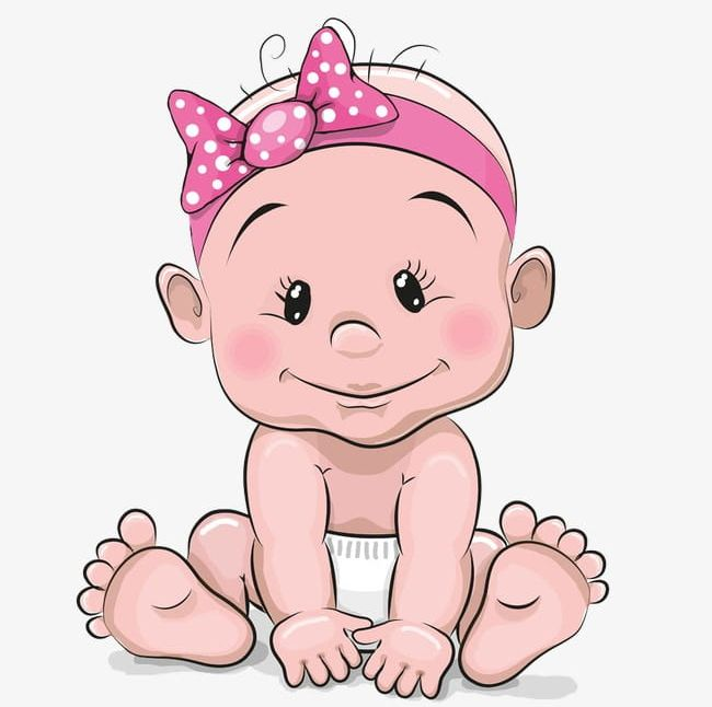 Cute Baby Girl Png Clipart Baby Baby Clipart Baby Clipart Baby Pink Cartoon Free Png Download
