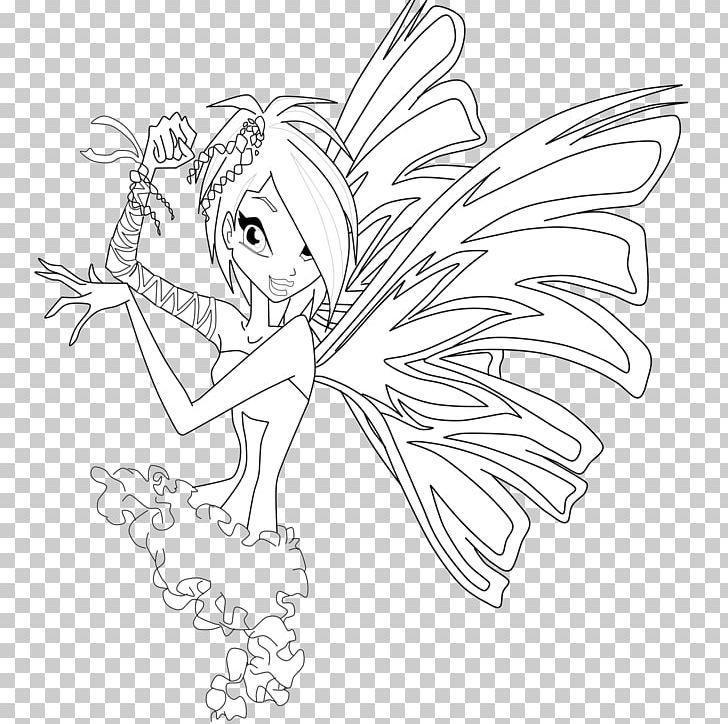 Winx Club Believix In You Flora Drawing Line Art Sirenix