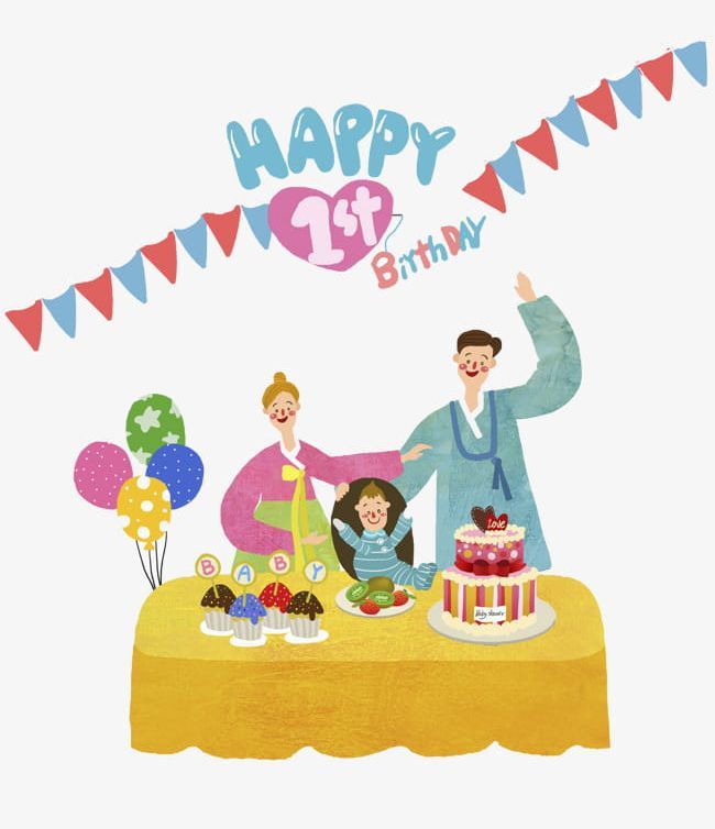 One Birthday Souvenir Illustration PNG Clipart 1 Party Years Of Age Cake Candle