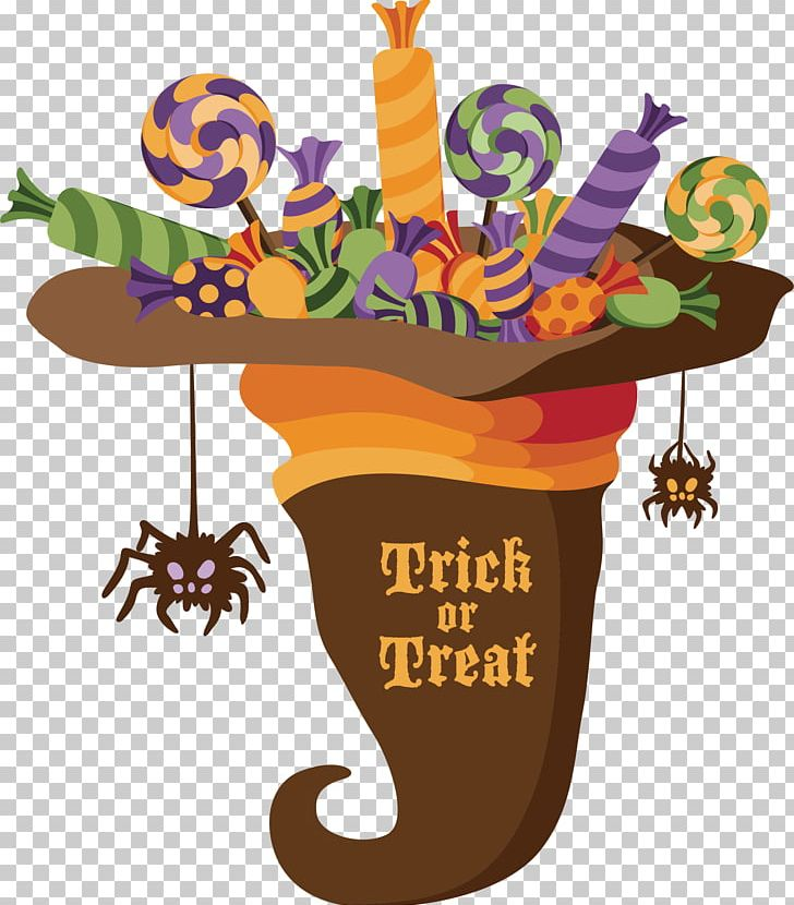 Halloween Trick-or-treating PNG, Clipart, Candies, Candy, Candy Cane, Flower, Flowerpot Free PNG Download
