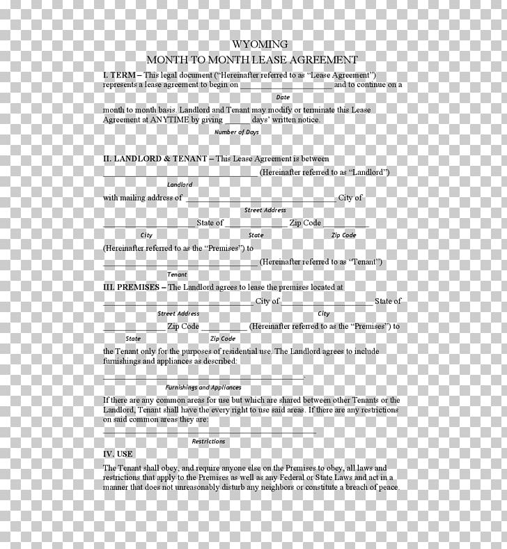 Rental Agreement Contract Addendum Lease Form Png Clipart