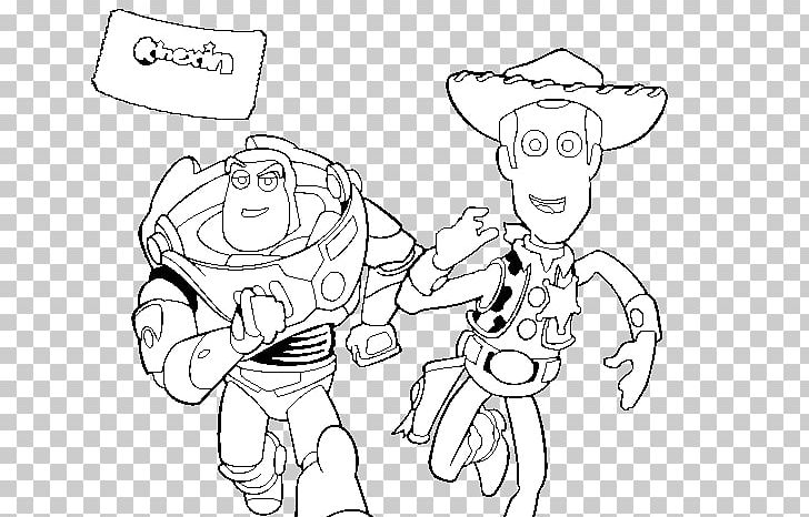 Buzz Lightyear Sheriff Woody Coloring Book Colouring Pages Toy Story